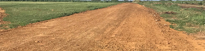 RTK GPS Gravel Road and Runway Construction